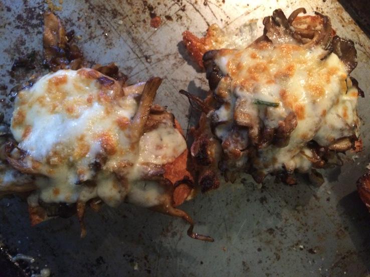 Maitake mushroom grilled cheese